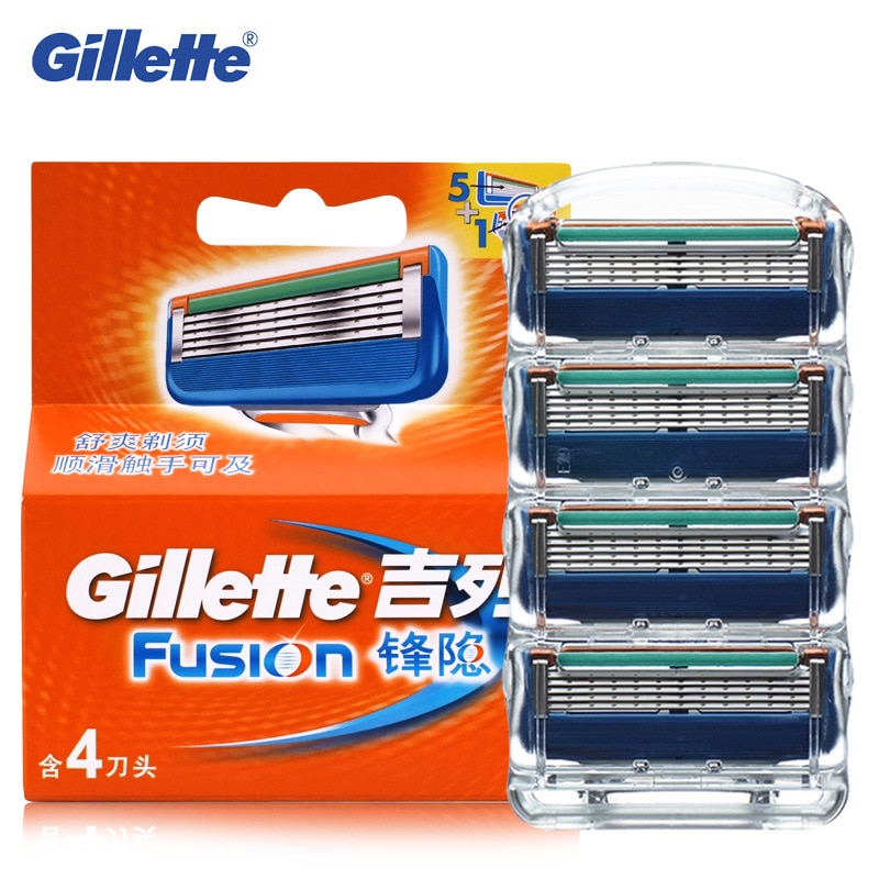 [해외]4Pcs Gillette Fusion Razor Blade Replacement Blade Head Men Professional Shaving Berad Cutting Brand Popular Shaving Razor Blade/4Pcs Gillette Fus